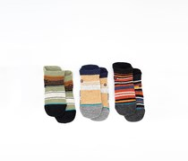 Stance Baby Boy's 3 Pairs Crew Box Set Socks, Green/Brown/Navy Combo