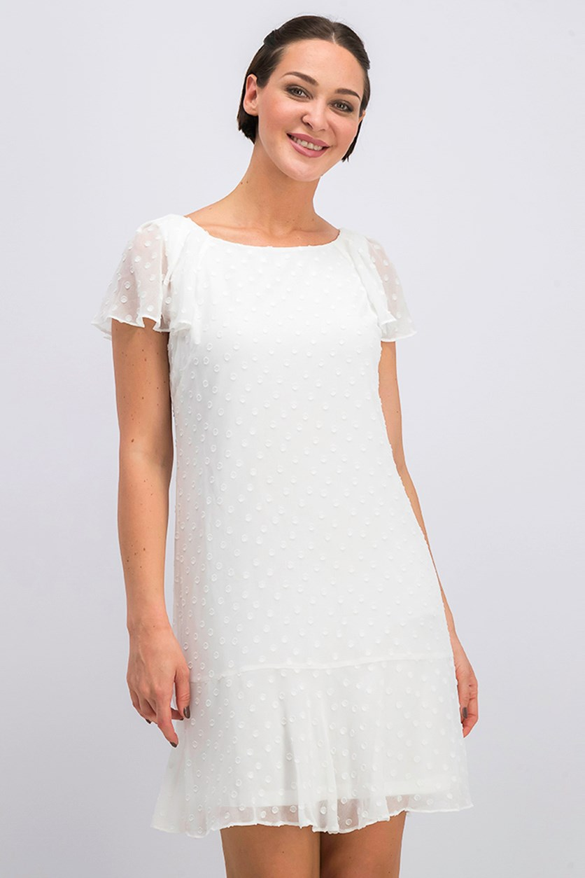 Women's Textured Dress, Off White