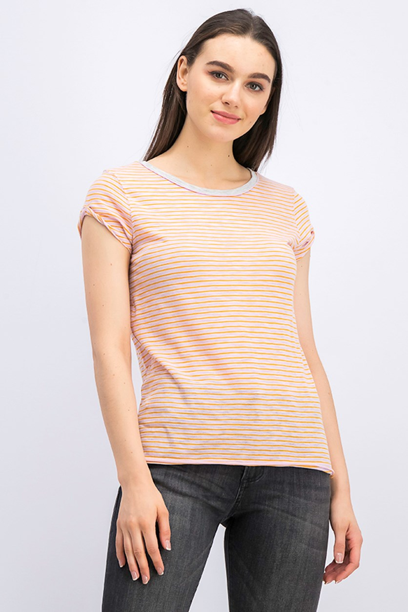 Women's Striped Shirt, Pink Combo