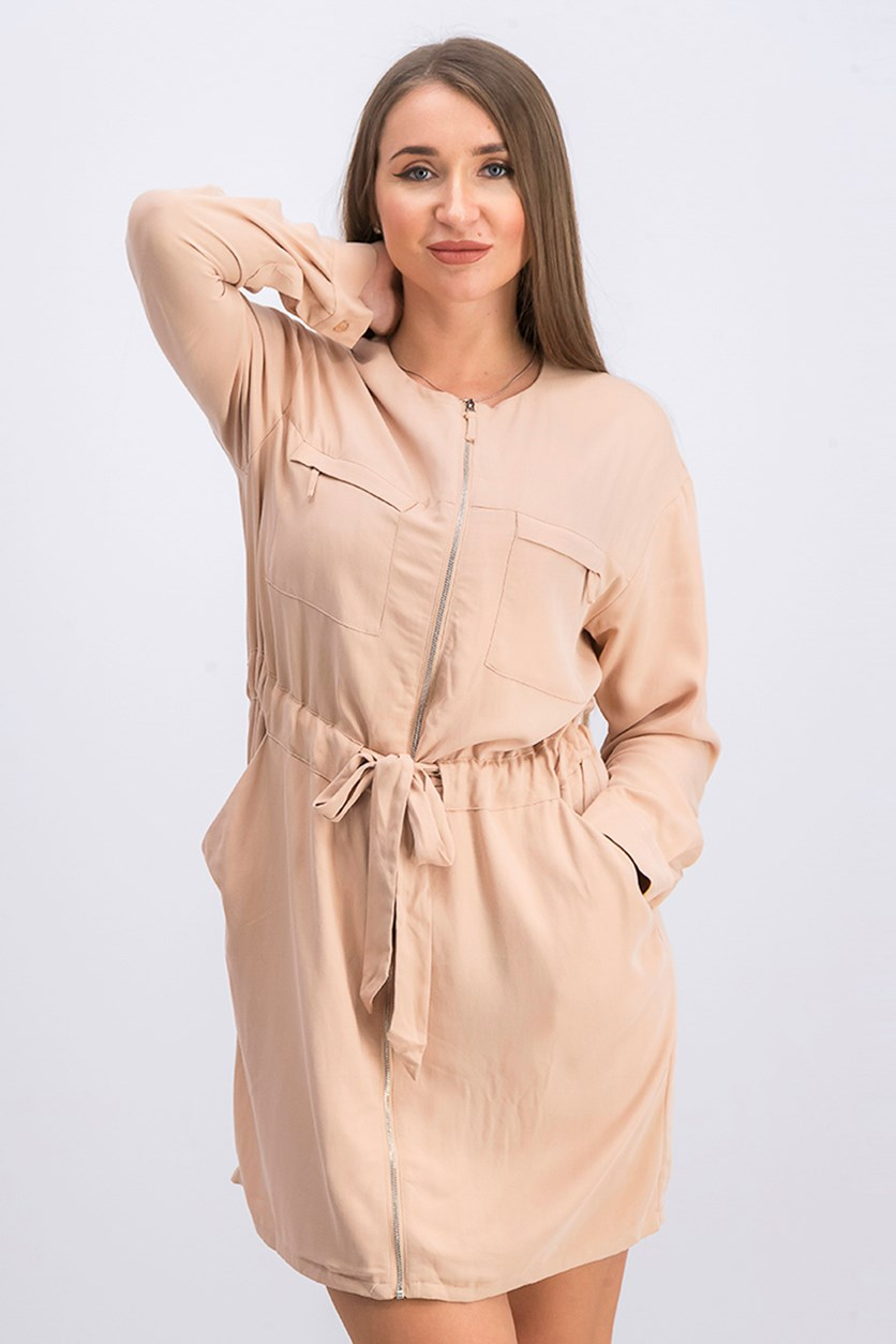 Women's Long Sleeve Ingrid Dress, Maple Sugar