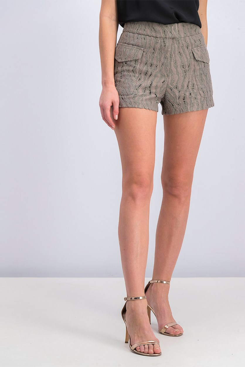 Zuri Lace Short, Tan