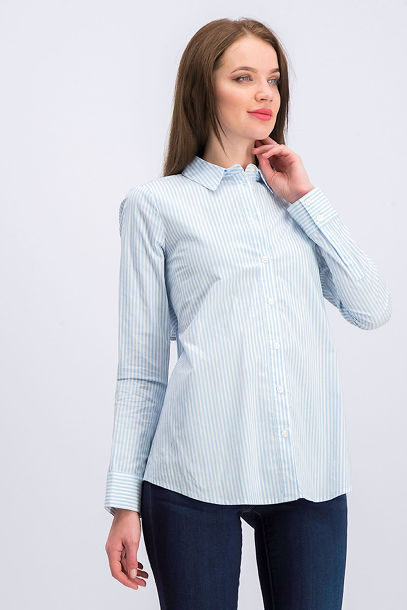 Women's Long Sleeve Blyss Stripe Shirt, Blue Bell
