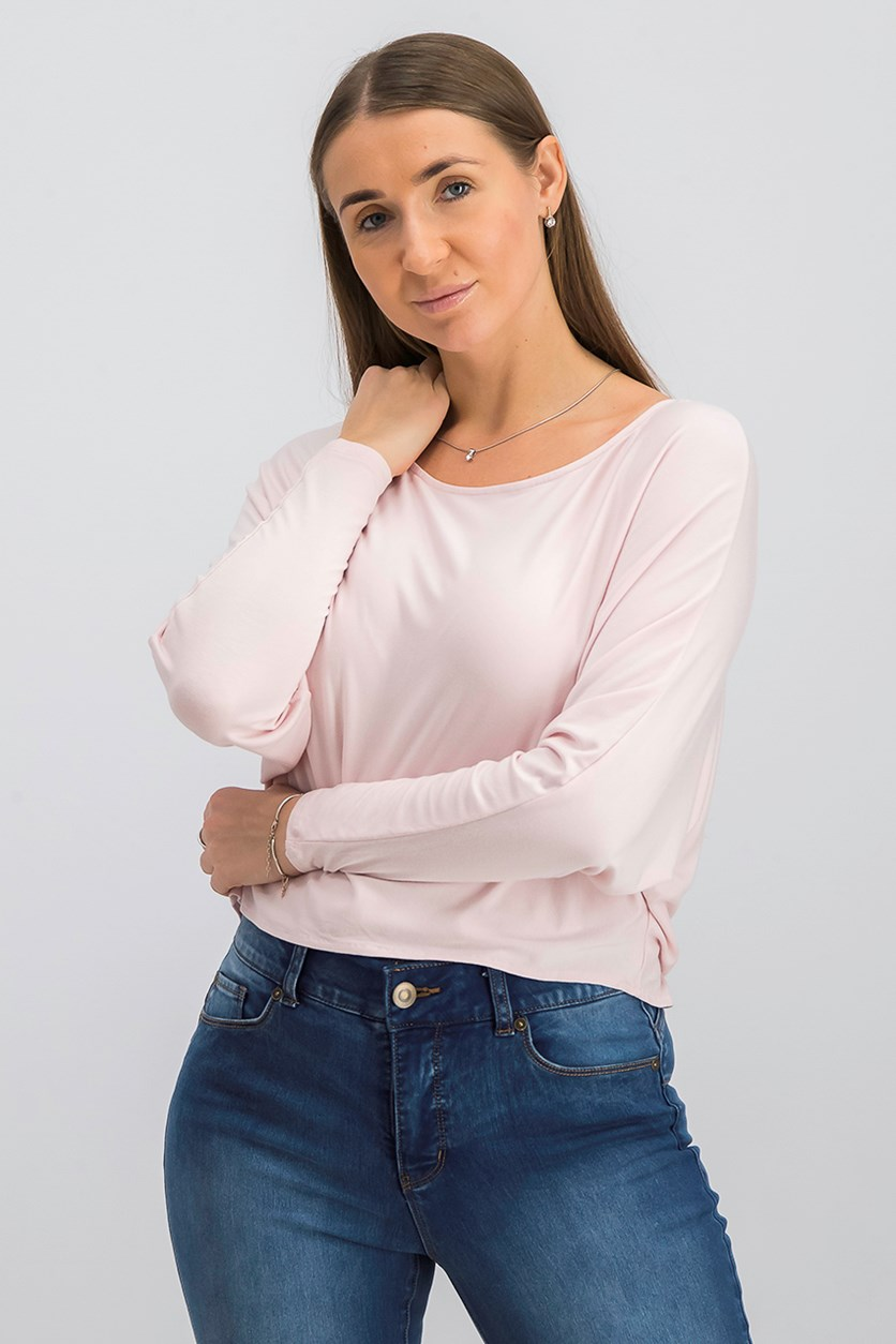 Women Marine Top, Mauve Chalk Pink