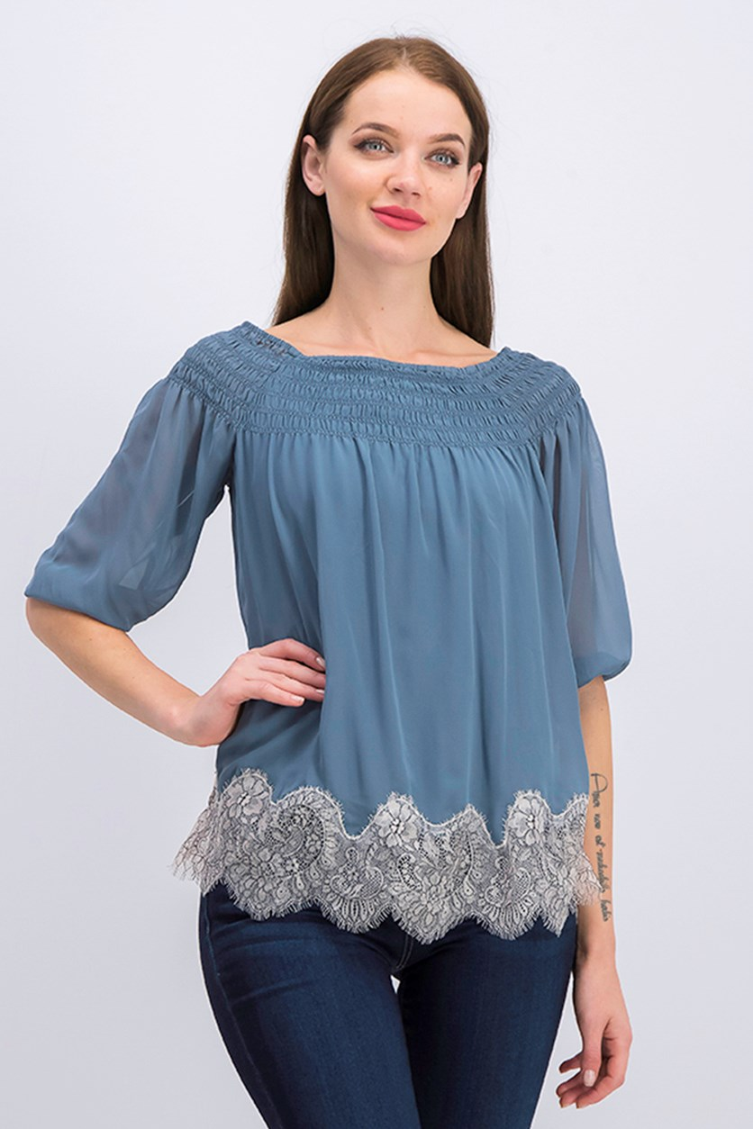 Women's Verano Off The Shoulder Top, Teal