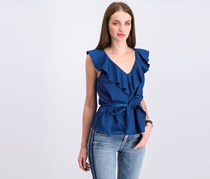 Guess By Marciano Ruffle Sunny Top, Estate Blue