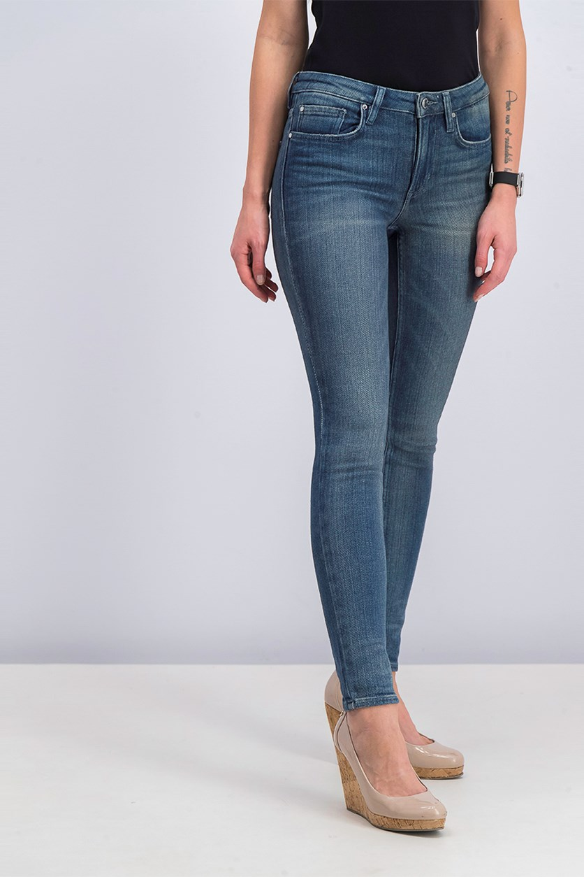 Women's Mid-Rise Skinny Jean, Medium Wash