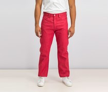 Levi's Strauss & Co. Mens Denim Shrink-to-Fit Straight Leg Jeans, Red