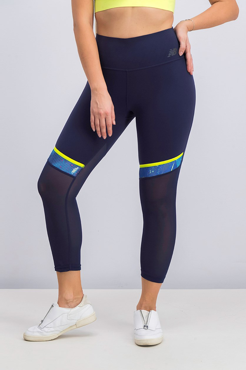 Women's Determination Capri, Navy Combo