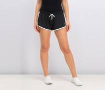 Women's Determination Shorts, Black/White
