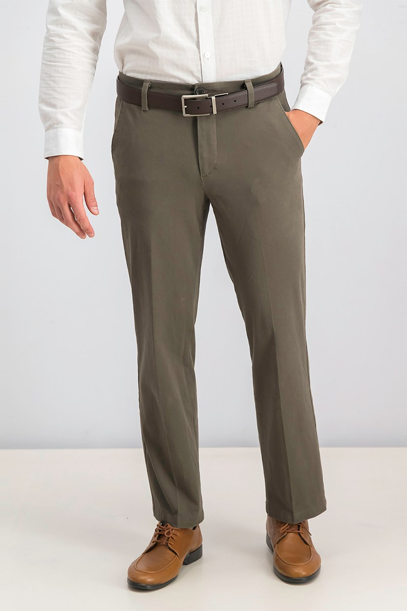 Men's Stretch Straight Fit Pants, Taupe