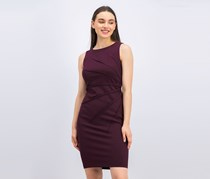 Calvin Klein Sunburst Sheath Dress, Aubergine