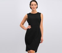 Calvin Klein Sleeveless Scuba Sheath Dress, Black