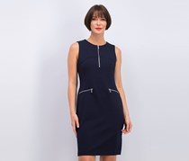 Calvin Klein Women's Zipper-Trim Sheath Dress, Navy