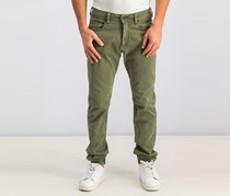 Buffalo David Bitton Men's Zoltan-x Relaxed Fit Jeans, Olive