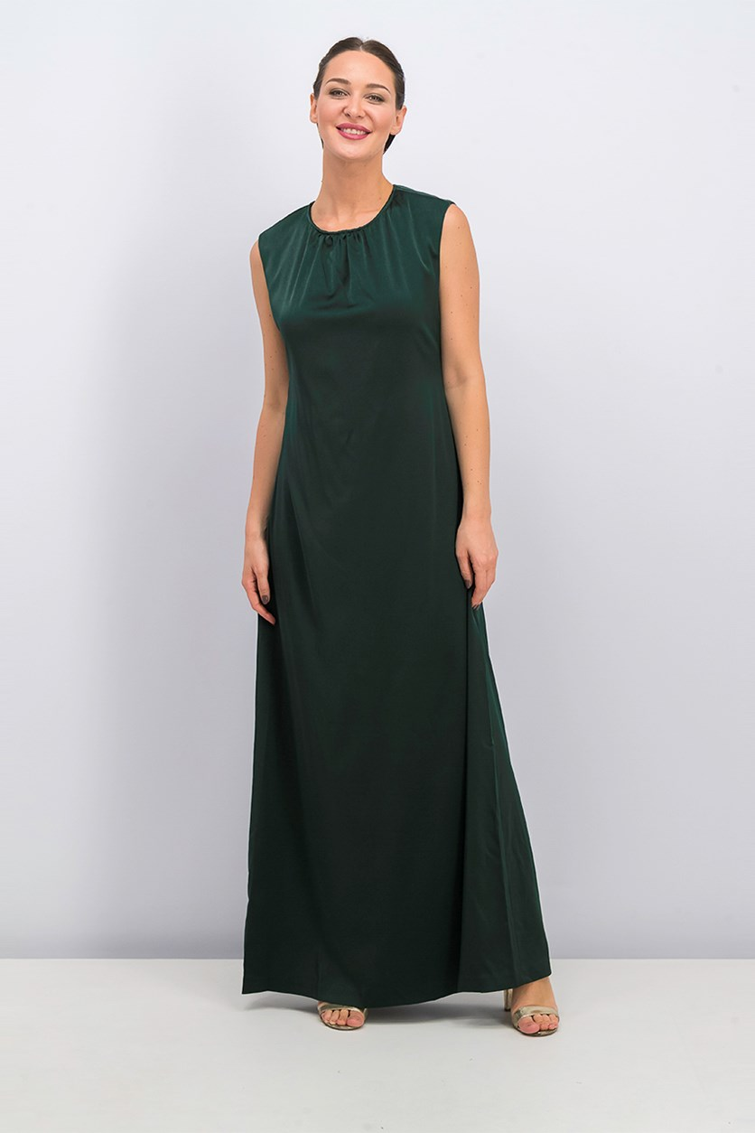 Women's Sleeveless Dress, Pine Green
