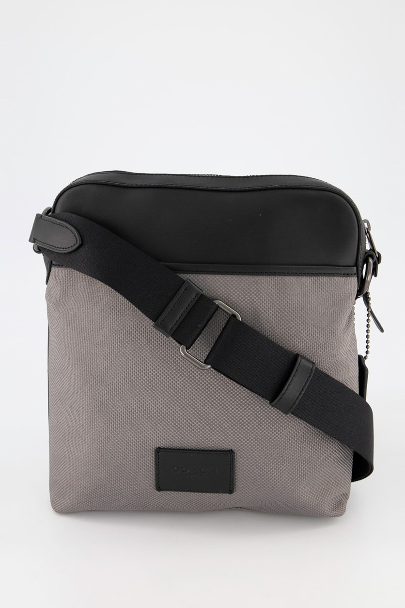 Men's Crossbody Messenger Bag, Black/Heather Grey
