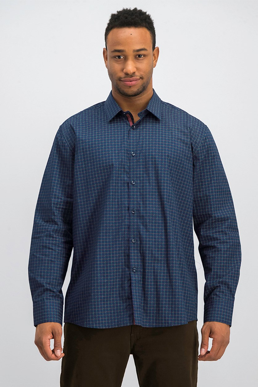 Men's Plaid Shirt, Navy