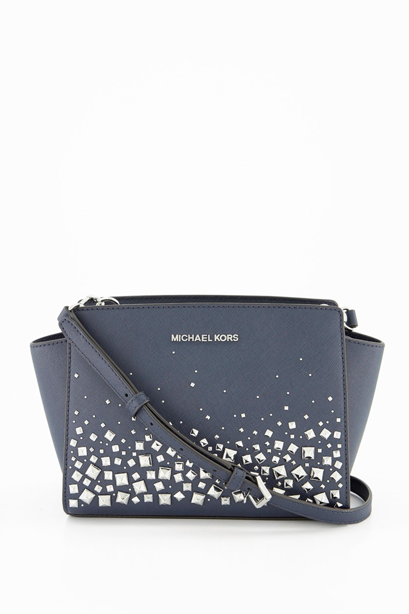 Michael Kor Women Semla Stud Crossbody Bags, Navy