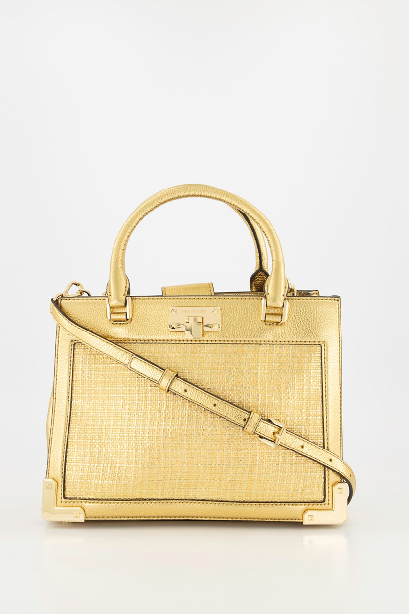 Women's Kinsley Satchel Crosbody Bag, Gold
