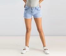 Bershka Women's Rip Short, Denim Wash