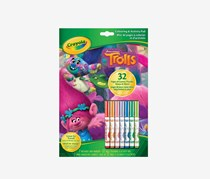 Crayola Trolls Colouring and Activity Pad, Green