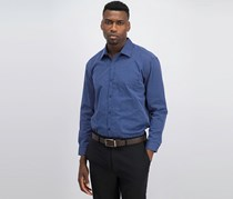 Dkny Men's Slim-Fit Casual Shirt, Blue