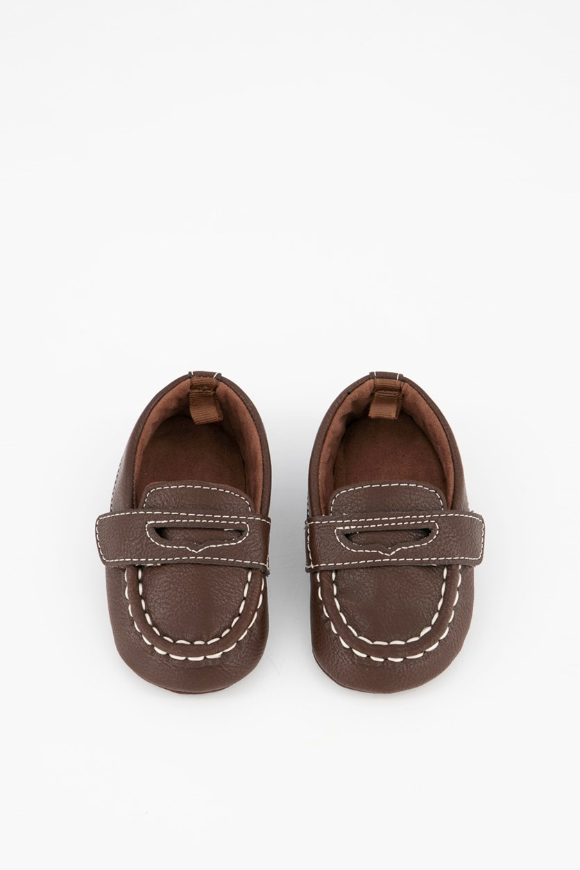 Baby Boys Loafers, Dark Brown