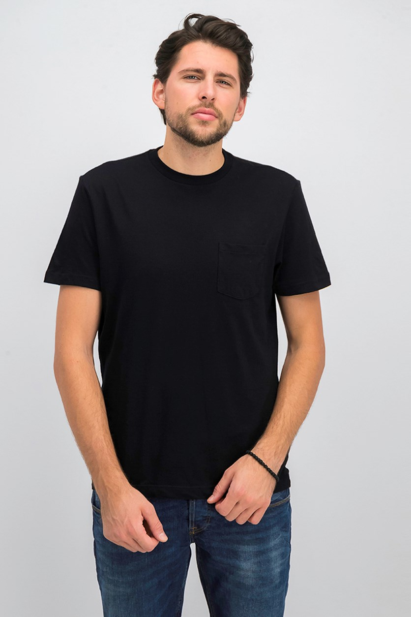 Men's Pocket T-Shirt, Deep Black