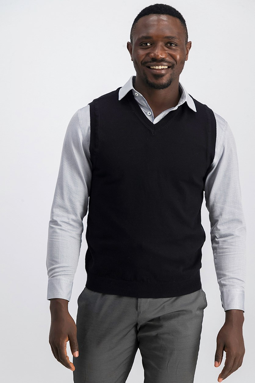 Men's Sweater Vest, Black