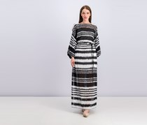 Bcbgmaxazria Batik Stripe Maxi Dress, Black Combo
