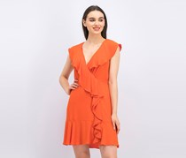 BCBG Maxazria Women's Deborah Ruffled Dress, Saffron