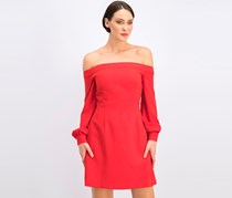 Jill Jill Stuart Off-the-Shoulder a-Line Dress, Poppy Red