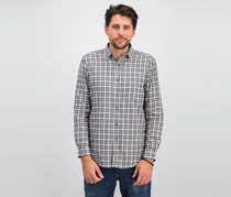 Mens Tartan Shirt, Grey Heather