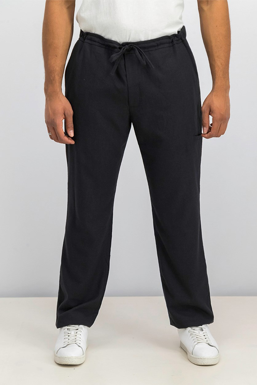 Men's Drawstring Pants, Charcoal