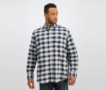 Club Room Men's Connery Plaid Shirt, Navy/White