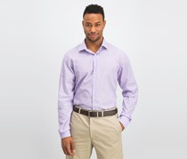 Unlisted Men's Easy Care Button up Dress Shirt, Light Purple