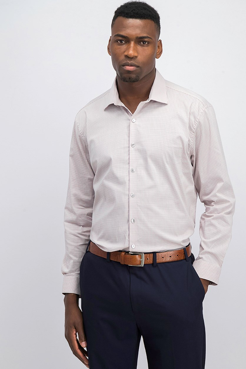Mens Techni-Cole Button up Dress Shirt, Rose Quartz