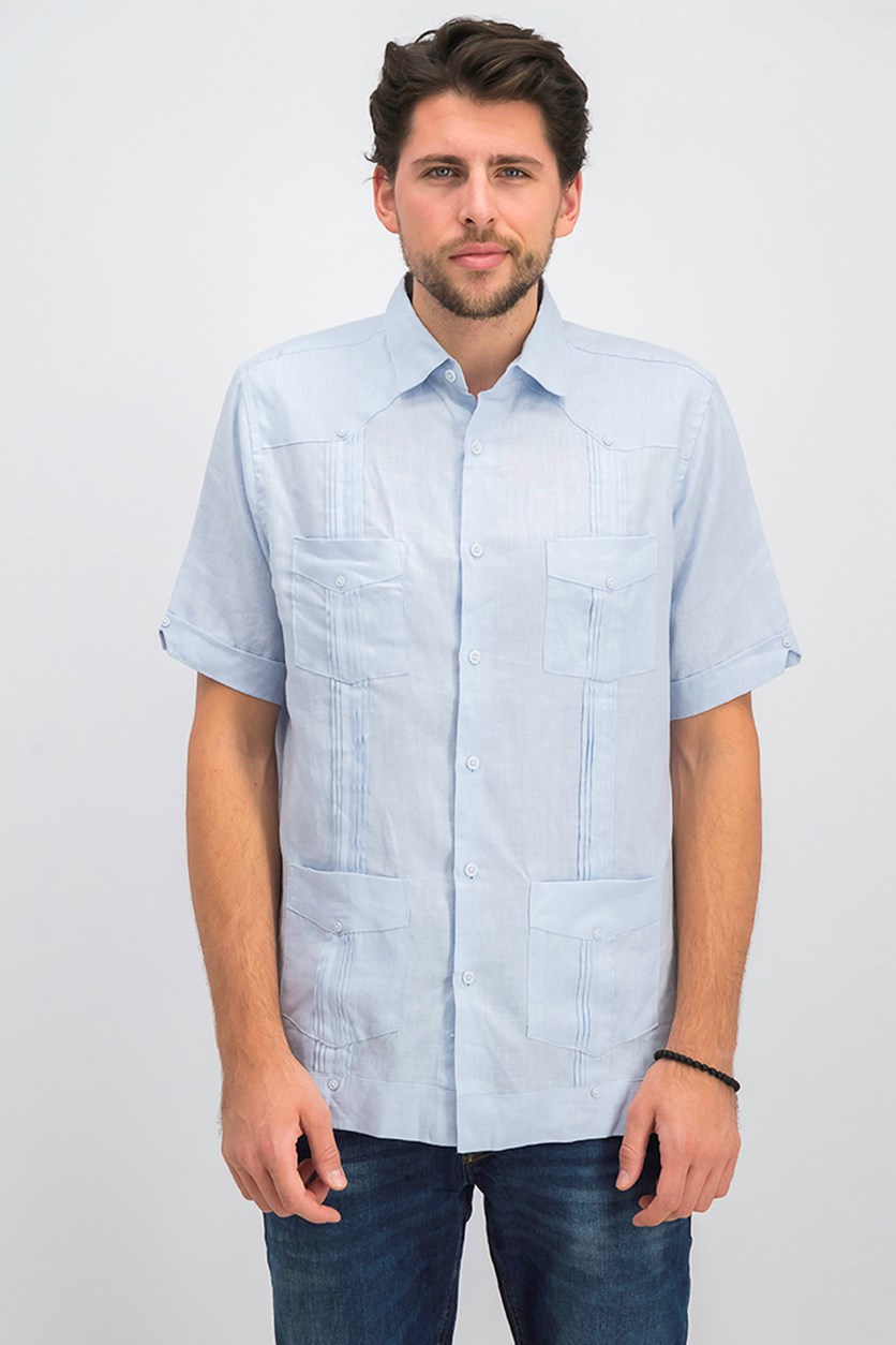 Men's Linen Shirt, Billowing Cloud
