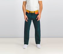 Calvin Klein Mens Colorblocked Ukelely Patch Jeans, Blue/Green Combo