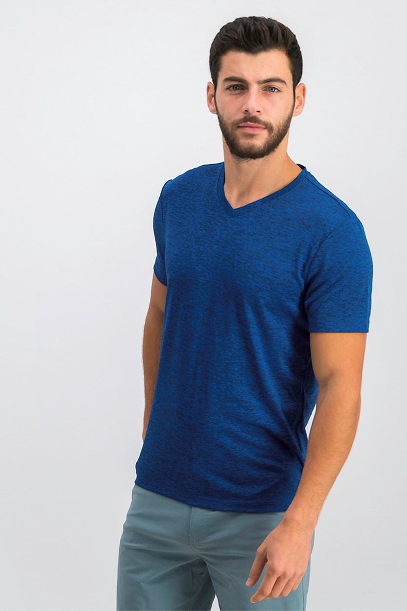 Mens V-Neck T-Shirt, Hyper Blue