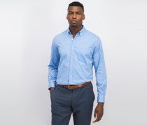 Club Room Men's Solid Stretch Oxford Cotton Shirt, Palace Blue