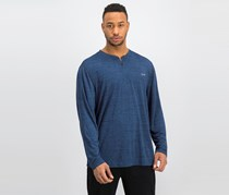 Greg Norman Men Performance Space-Dyed Henley, Blue