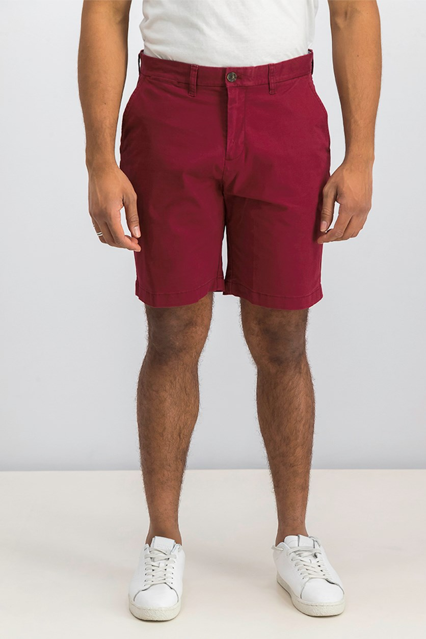 9' Inseam Casual Walking Shorts, Cabernet Red