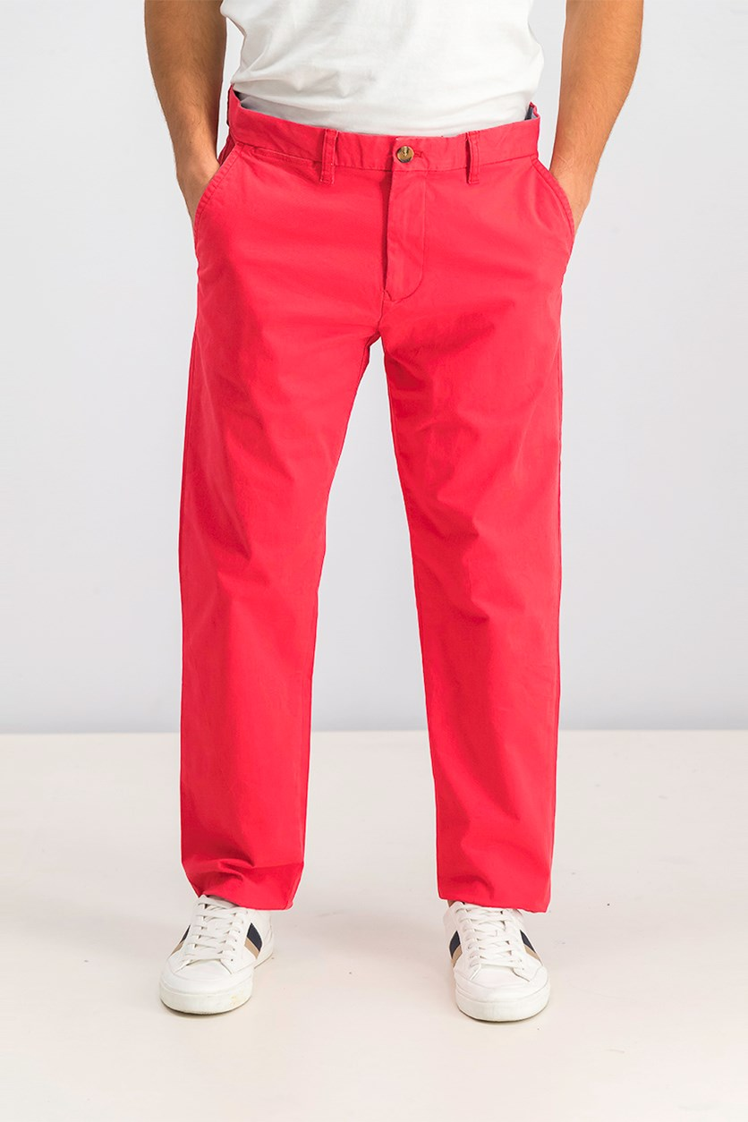 Men's Custom Fit Pants, Red