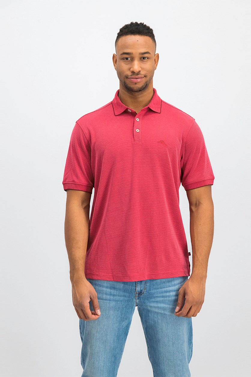 Men's All Square Polo Shirt, Red