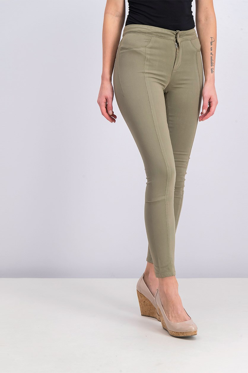 Colored Wash Yoga Skinny Jeans, Helmut Green