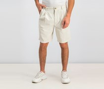 Club Room Men's Double-Pleated Cotton Shorts, Light Beige