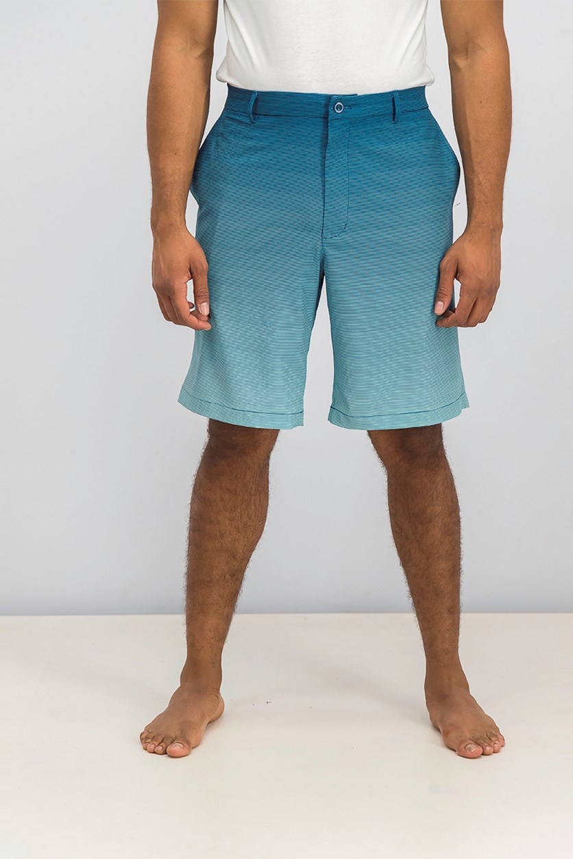 for Tasso Elba Men's Gradient Shorts, Aqua Lake