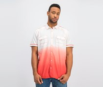 Ombre Short-Sleeve Shirt, Hot Sauce