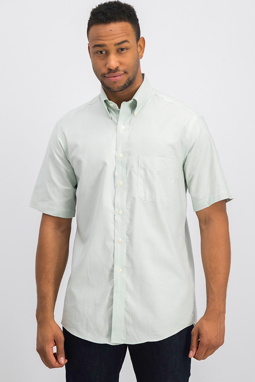 Men's Regular Fit Wrinkle-Resistant Oxford Dress Shirt, Mint Green
